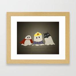Ghost Cosplay Framed Art Print
