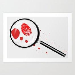 Detectives Magnifying Glass Art Print