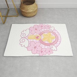 Kawaii cardcaptor Sakura pastel star key Rug