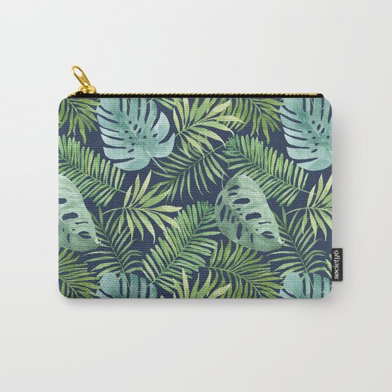 Tropical Branches on Dark Pattern 06 Carry-All Pouch