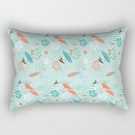 Surfs Up Blue Rectangular Pillow