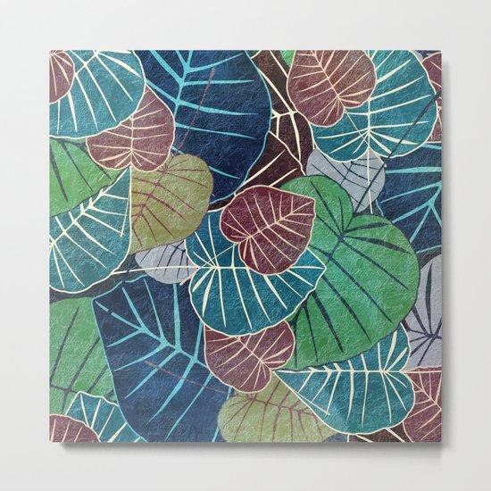Leaf Pattern 2 Metal Print