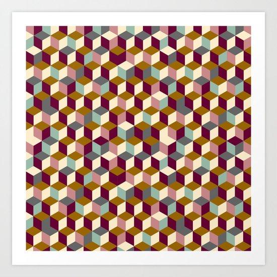 Cubic Pattern Art Print