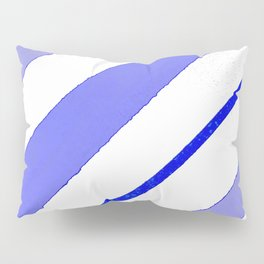 Blue lines and spots Pillow Sham