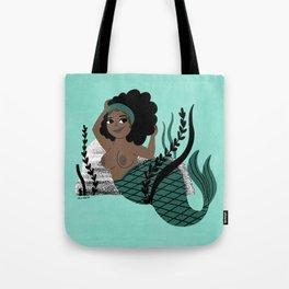 Black and Beautiful Mermaid Tote Bag