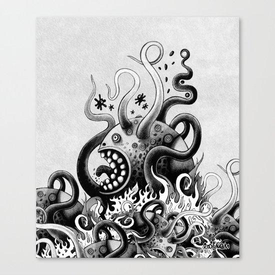 Dark Octoworm Canvas Print