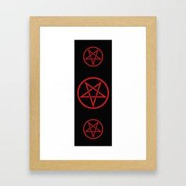 Satanic Pentagram (blood edit) Framed Art Print