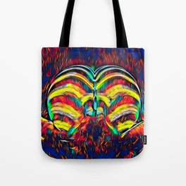 1349s-MAK Abstract Pop Color Erotica Explicit Psychedelic Yoni Buns Tote Bag