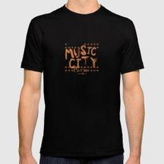 Music City Paris MEDIUM Black Mens Fitted Tee