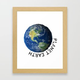 Planettaria - beautiful Earth Framed Art Print