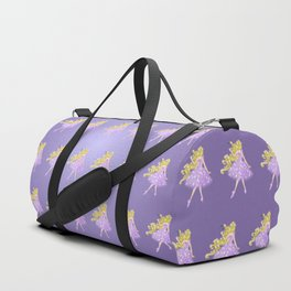 Golden Flower Duffle Bag