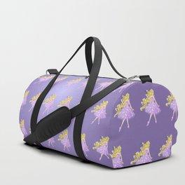 Golden Flower Duffle Bag
