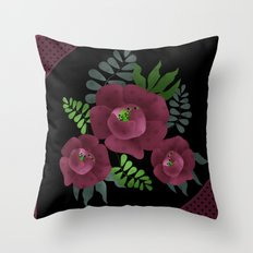 Burgundy roses. Throw Pillow