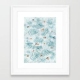 Green palms Framed Art Print