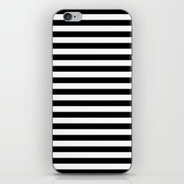 Stripe Black & White Vertical iPhone Skin