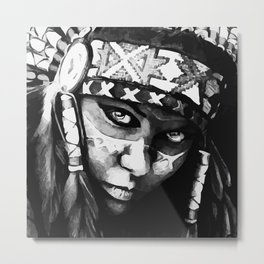 Native American Girl Metal Print