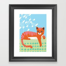 Buster's just hanging out Framed Art Print