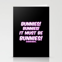 bunnies Stationery Cards featuring Bunnies by Nana Leonti