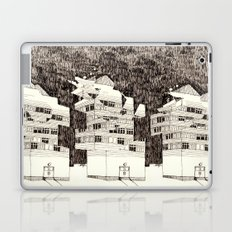 Building at Night with the Moon Laptop & iPad Skin