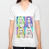 britney V-neck T-shirts featuring BRITNEY POP by Lovejonny