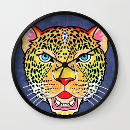Roar / Retro Wild Cat Wall Clock