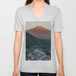 Mt. Rinjani at Sunrise Unisex V-Neck