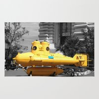 yellow submarine Area & Throw Rugs featuring yellow submarine  by 33bc
