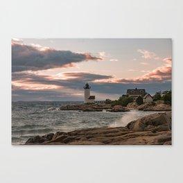 Annisquam Lighthouse sunset Canvas Print