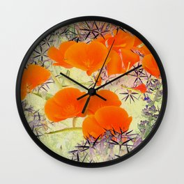 Poppy Dream World Wall Clock