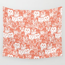 just owls flame orange Wall Tapestry