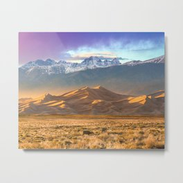 Deer and the Dunes Metal Print