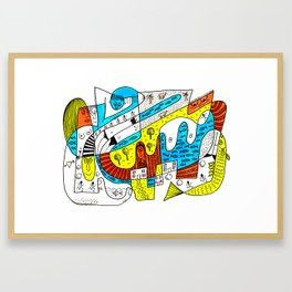 Squoodle 6 Framed Art Print