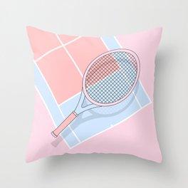 Hold my tennis racket Throw Pillow