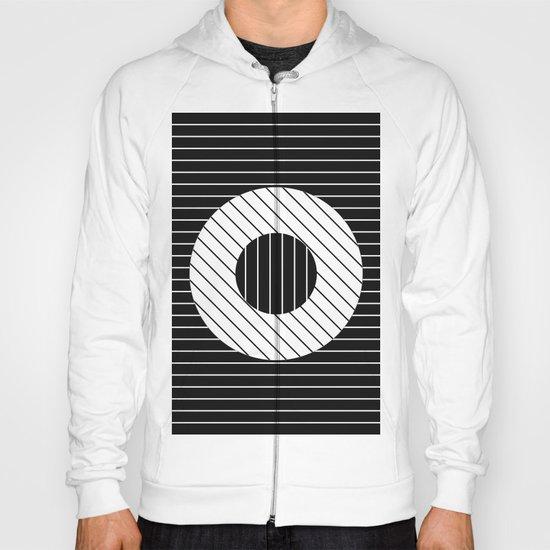 Turn (Minimalistic, black and white, geometric design) Hoody