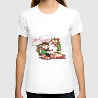 hiccup T-shirts featuring Merry Christmas from Hiccup and Toothless by Clgtart