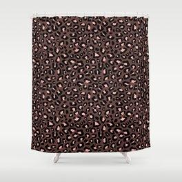 Leopard Print 2.0 - Brown & Blush Shower Curtain