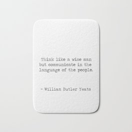 William Butler Yeats 2 Bath Mat