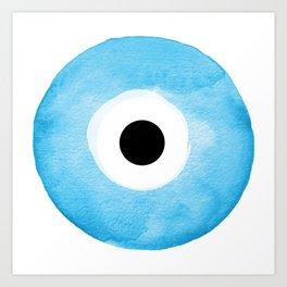 Watercolor Evil Eye Art Print