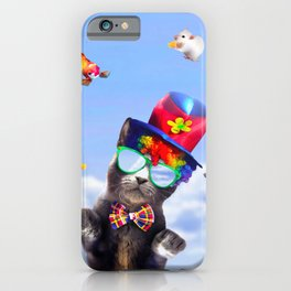 Juggling Clown Cat - Funny Juggle iPhone Case