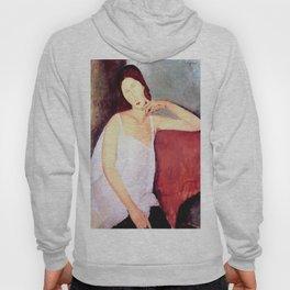 Amedeo Modigliani - Jeanne Hébuterne 1918 Artwork for Wall Arts, Prints, Tshirts, Men, Women and Kids Hoody
