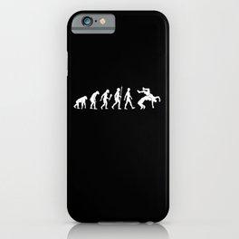 Funny Wrestling Evolution Wrestler Gift Idea iPhone Case