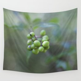 Green Burgeon Wall Tapestry