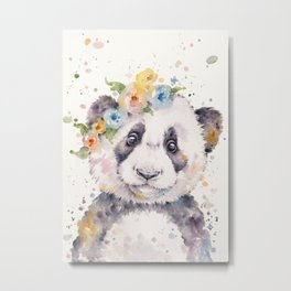Little Panda Metal Print