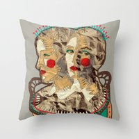 girls Throw Pillows featuring Girls by R. Gorkem Gul