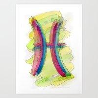 Pisces Flow Art Print