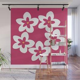 Pink Plumeria Lei (Pink) Wall Mural