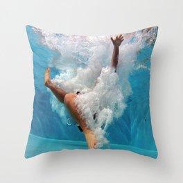 Pool - Blue Water - Beach - Ocean - Waves - Splash Throw Pillow