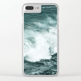 Wild waves crashing Clear iPhone Case
