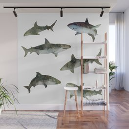 shark Wall Mural