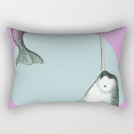 Narwhal Geometric Bright and Colorful Rectangular Pillow